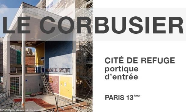 Visueel van project Restauration du portique d'entrée de la Cité de Refuge, oeuvre Le Corbusier