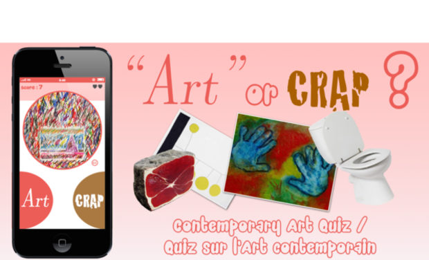 "Project visual ""Art or Crap ?"" Quiz amusant sur l'Art Contemporain"