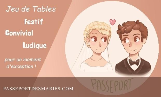 """Project visual Jeu de tables pour mariage  """"LE PASSEPORT"""""""