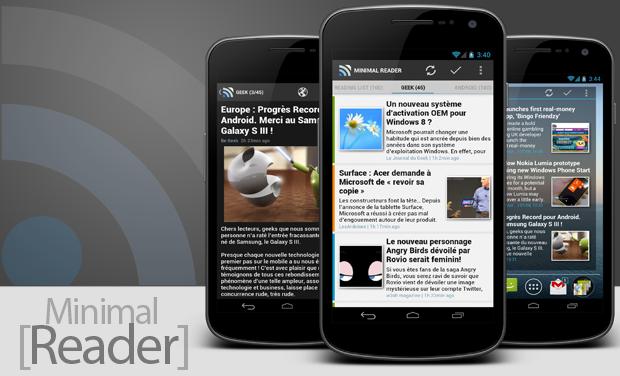 Visueel van project Minimal Reader (Android)