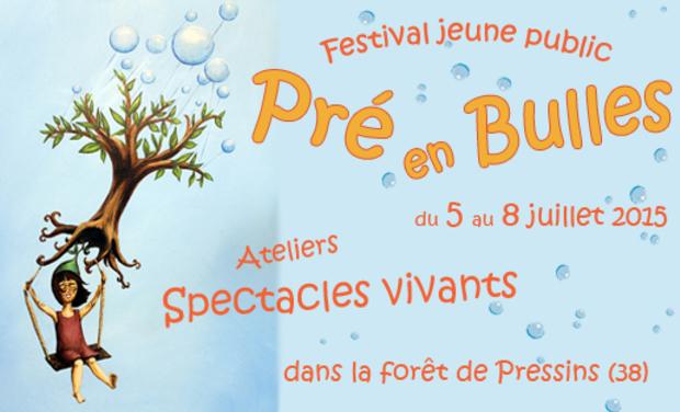 """Visuel du projet """"Pré en Bulles"""" festival de spectacles jeune public"""