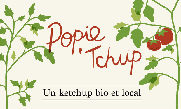 Project visual Popie'tchup? Une sauce tomate bio et locale!