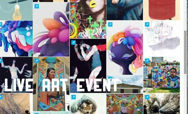 Project visual Word and Colour's LIVE Art Exhibit!