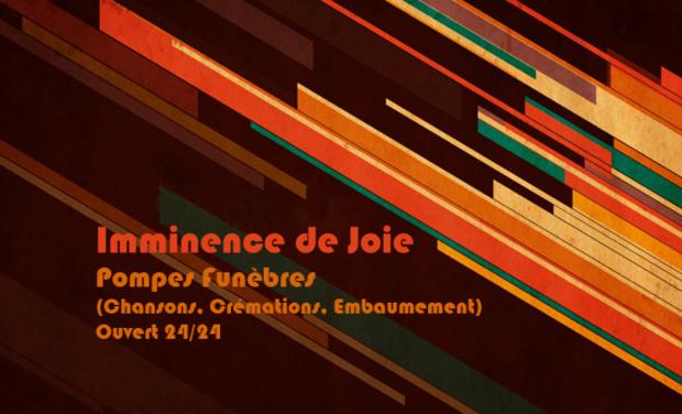 Project visual Imminence de joie (Chansons Funèbres)