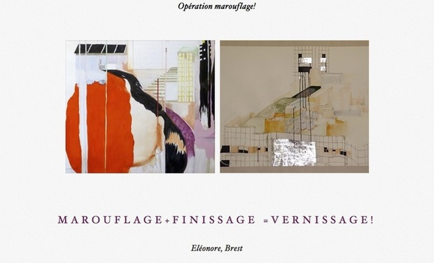 Visueel van project Marouflage + finissage = vernissage!