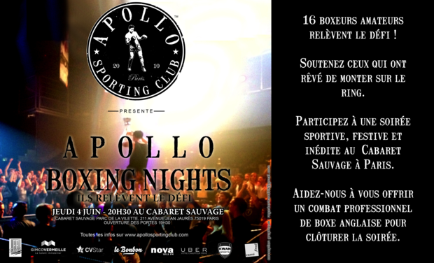 Visuel du projet Apollo Boxing Nights 2015