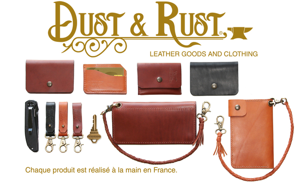 Project visual Dust & Rust : Maroquinerie made in France