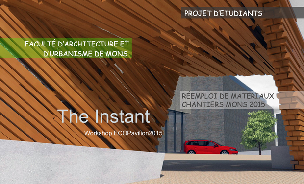 Project visual L'Instant - oeuvre architecturale