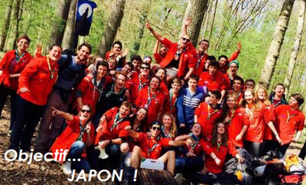 Visueel van project Objectif Japon pour une jeune scoute (Scouts & Guides de France)