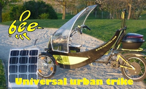Project visual The BEE - universal urban tricycle