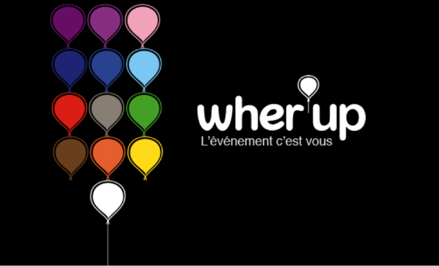 Project visual WHER'UP, La plateforme participative d'événements communautaires / The participatory platform for community events.
