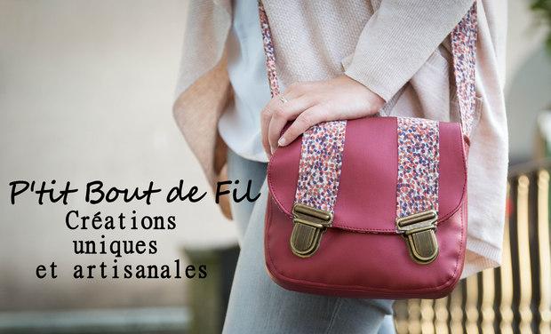 Visueel van project P'tit Bout de Fil, créations de sacs et accessoires de mode uniques et artisanales