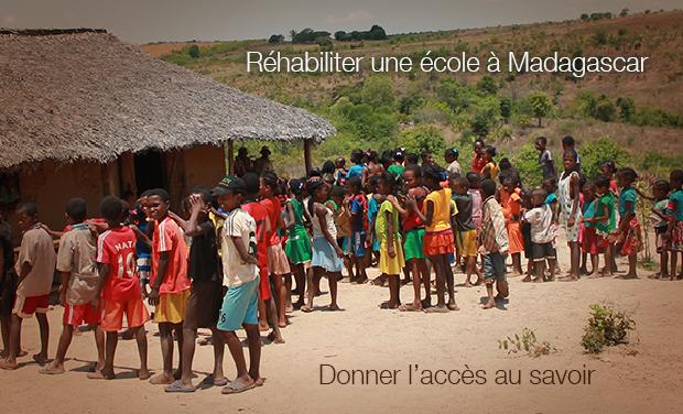 Visuel du projet Réhabiliter une école à Madagascar, c'est donner l'accès au savoir.