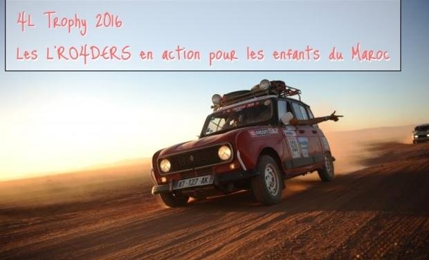 Visuel du projet 4L Trophy 2016 - Les L'RO4DERS en action pour les enfants du Maroc