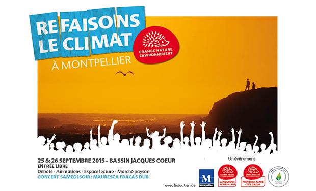 Project visual Refaisons le Climat à Montpellier le 26 septembre 2015