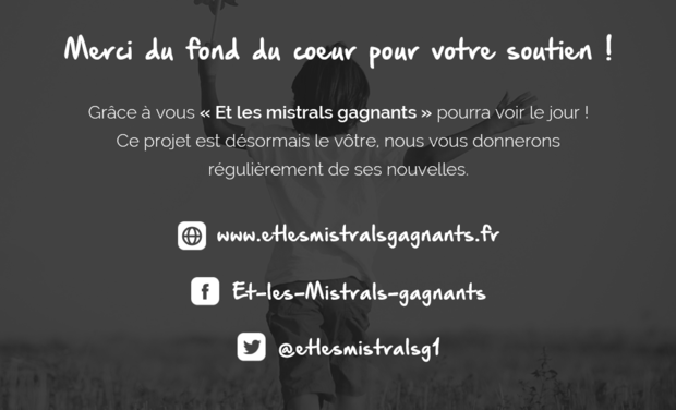 Visueel van project ET LES MISTRALS GAGNANTS - Le documentaire d'Anne Dauphine Julliand
