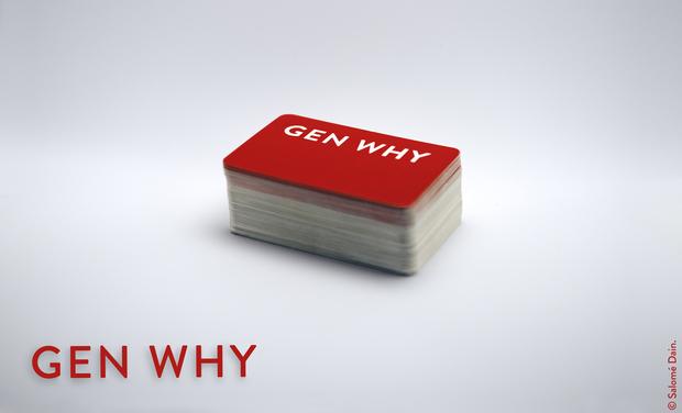 Visuel du projet GEN WHY - Le jeu de cartes qui récompense enfin le mauvais esprit.