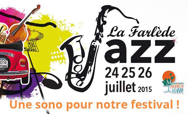 Visueel van project Financez la Sono de notre festival de jazz