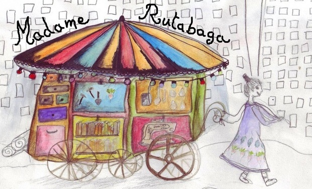 Project visual Madame Rutabaga - structure mobile d'ateliers de rue