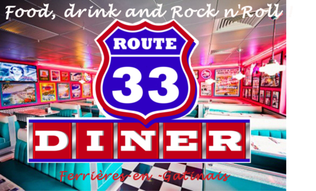 Project visual Route 33 diner américain