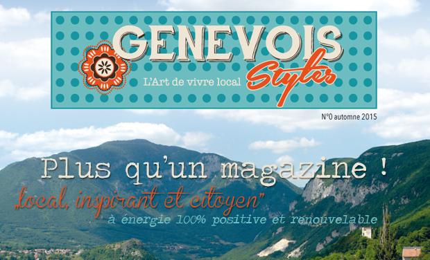Project visual Genevois Styles, le magazine de  l'art de vivre local, créatif et inspirant