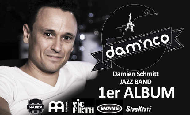 Visueel van project Dam'nco - Damien Schmitt JAZZ BAND - 1er album CD/DVD