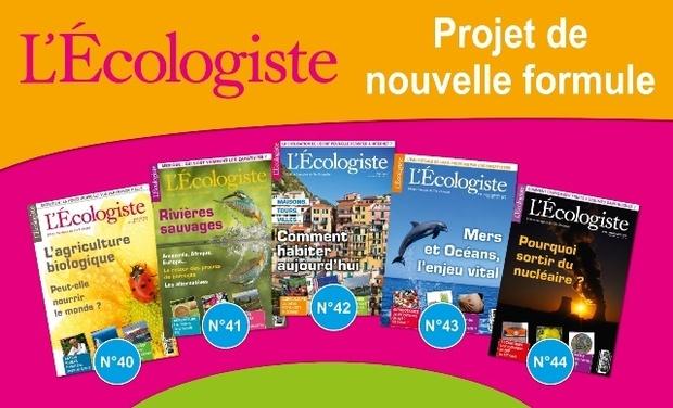Project visual Une nouvelle formule pour L'Ecologiste, la revue de référence sur l'écologie