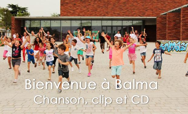 """Visueel van project Chanson, clip vidéo et CD """"Bienvenue à Balma"""""""