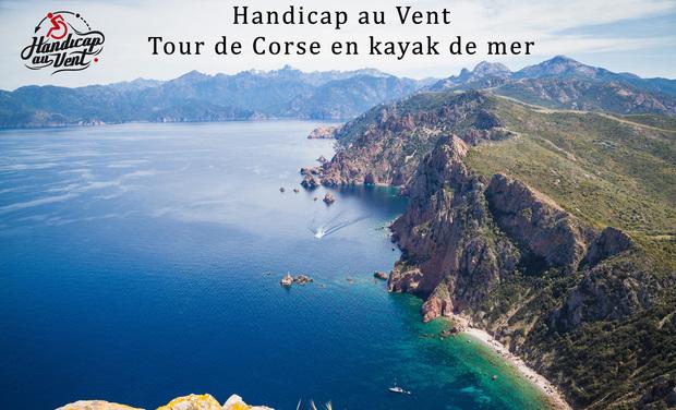 Project visual Handicap au vent Tour de la Corse en Kayak