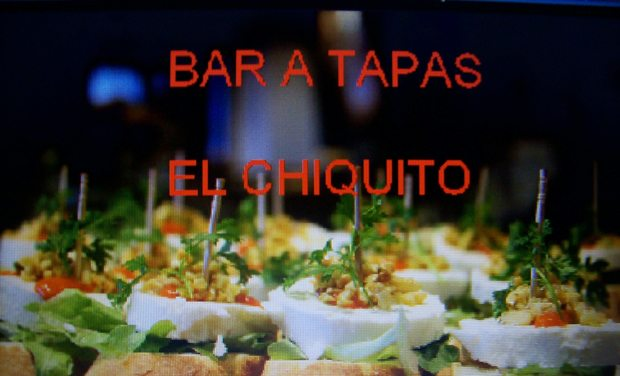 "Visueel van project BAR A TAPAS "" EL CHIQUITO"""