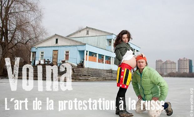 Visueel van project Voïna, l'art de la protestation à la russe