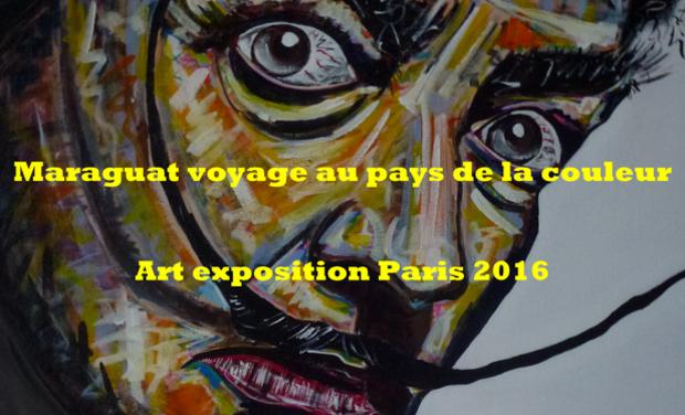 Project visual Maraguat voyage au pays de la couleur.Art exposition Paris 2016