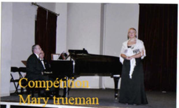 Project visual Financez ma participation à la Competition de chant Mary Trueman à New York