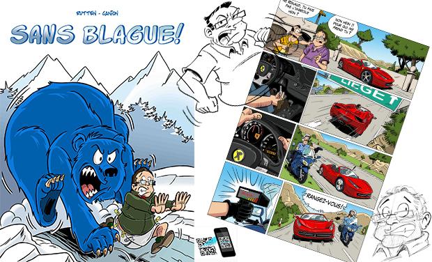 Visueel van project Sans Blague ! La Bande Dessinée interactive