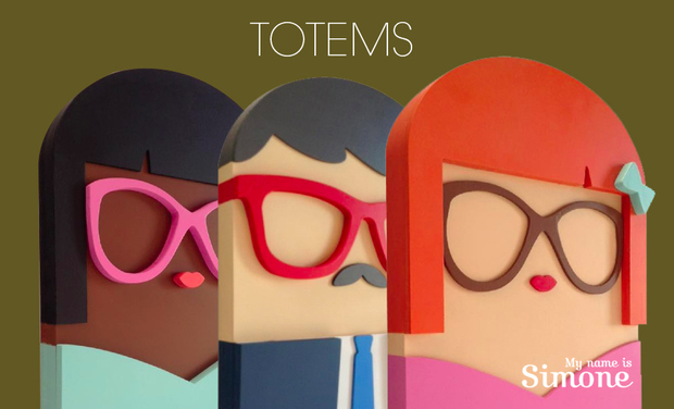 Project visual LES TOTEMS DE SIMONE