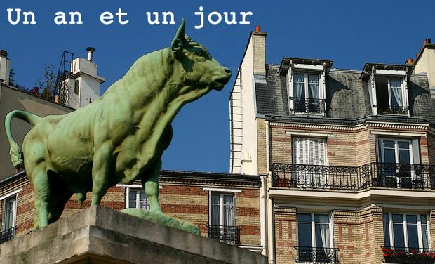 """Visuel du projet """"Un an et un jour""""  Premier roman"""