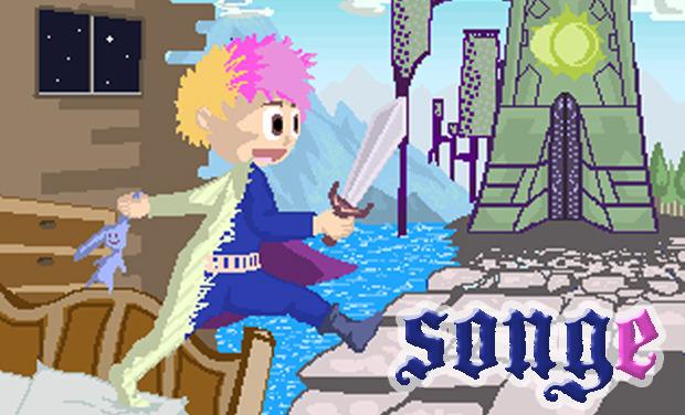 Project visual Songe, un jeu vidéo rétro, mais pas que.