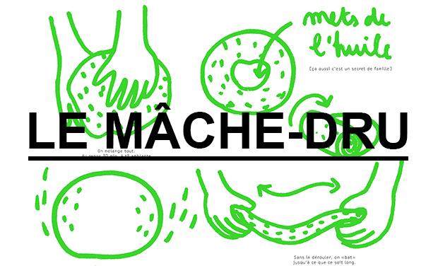 Visuel du projet Exposition Mâche-dru, les recettes dessinées