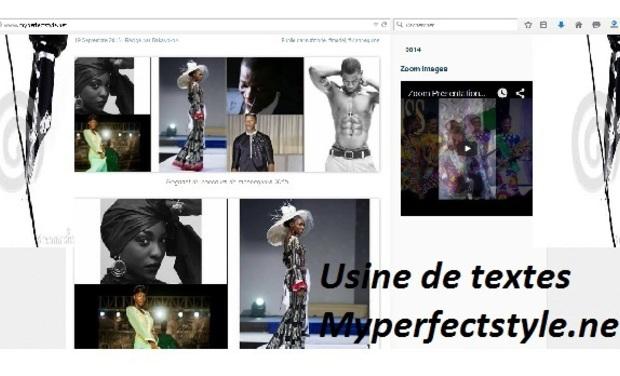 Project visual Usine de traitement de textes Myperfectstyle.net