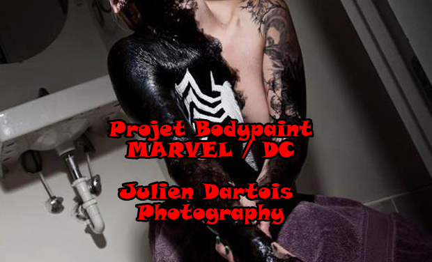 Visuel du projet Bodypaint Marvel DC