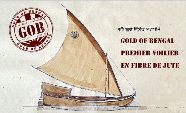Project visual Gold of Bengal : Premier voilier en fibre de jute
