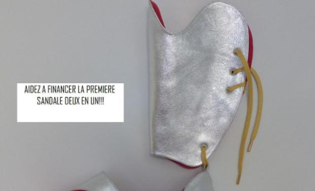 Visuel du projet La première  sandale deux en un : Un concept original et exclusif.