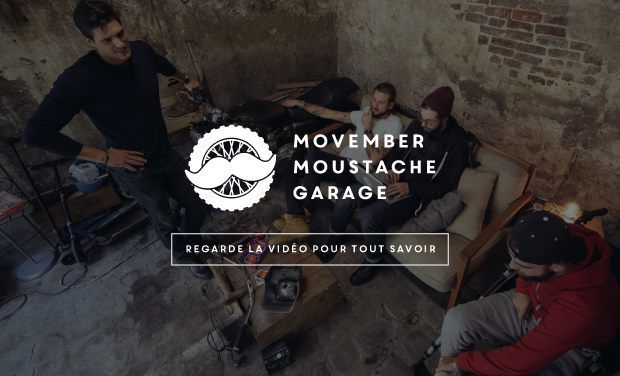 Visueel van project Movember Moustache Garage