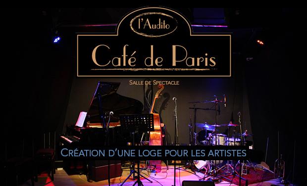 Visuel du projet Une loge pour les artistes du Café de Paris - l'Audito