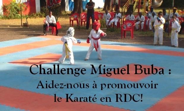 Visuel du projet Challenge Miguel Buba : aidez-nous à promouvoir le Karaté en RDC!