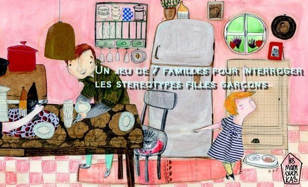 Visuel du projet Un jeu de 7 familles pour interroger le concept de la famille et les stéréotypes fille  garçon