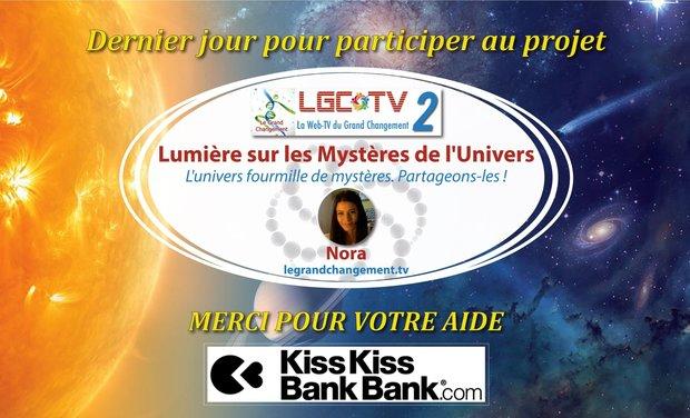 """Visuel du projet WEB TV """"Lumière sur les Mystères de l'Univers"""""""