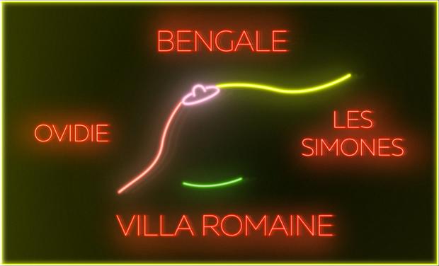 """Visueel van project Bengale / Les Simones / Ovidie - """"Villa Romaine"""" (Clip officiel)"""