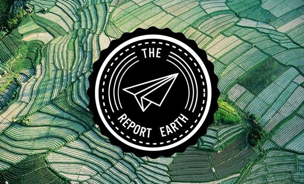 Project visual The Report Earth, webzine de voyage