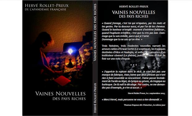 """Visuel du projet """"Vaines nouvelles des pays riches"""", d'Hervé Rollet-Preux"""